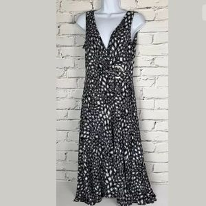 Jones New York Black White Geometric Dress Size 8